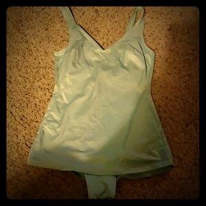 1960s mint 1 piece swimsuit
